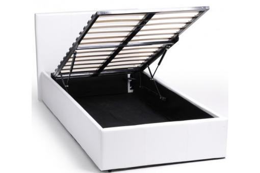 lit coffre 90 x 190 blanc avec sommier john design sur sofactory. Black Bedroom Furniture Sets. Home Design Ideas