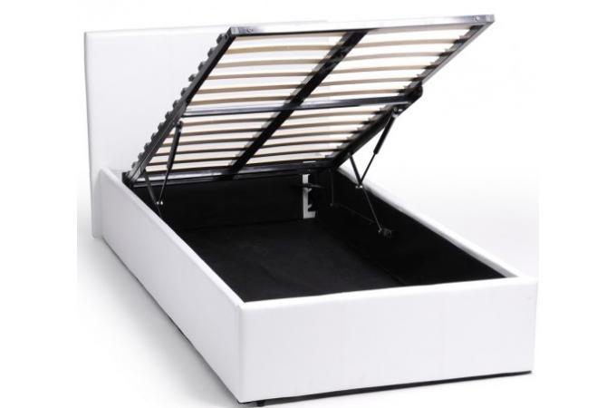 lit coffre 90 x 190 blanc avec sommier john design sur. Black Bedroom Furniture Sets. Home Design Ideas