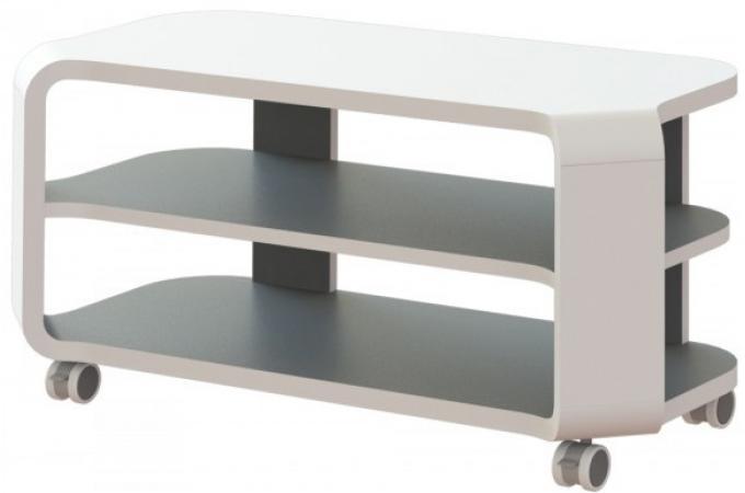 Meuble tv gris et blanc avec roulettes city design pas - Meuble tv avec roulettes ...