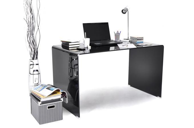 bureau en verre noir montreal design pas cher sur sofactory. Black Bedroom Furniture Sets. Home Design Ideas