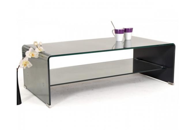 Table basse rectangulaire en verre montreal design pas - Table basse rectangulaire en verre ...