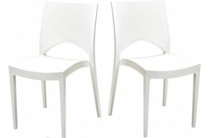 Lot de 2 Chaises Design Blanches DELHI SoFactory