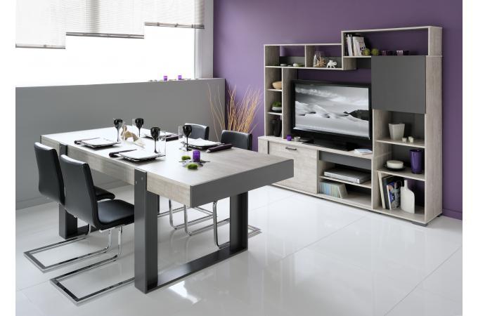 Table et salle manger plaqu bois cannes design sur for Salle a manger factory