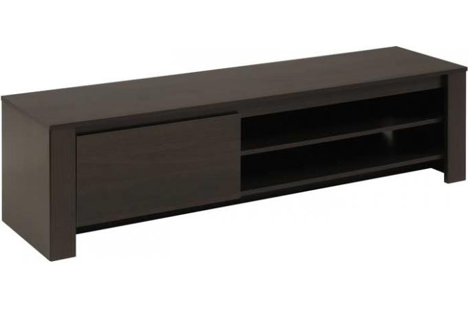 Meuble tv en imitation bois anthracite maya design sur for Imitation meuble designer