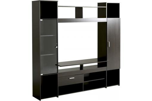 Meuble tv en imitation bois marron tag re maya design sur sofactory for Imitation meuble designer