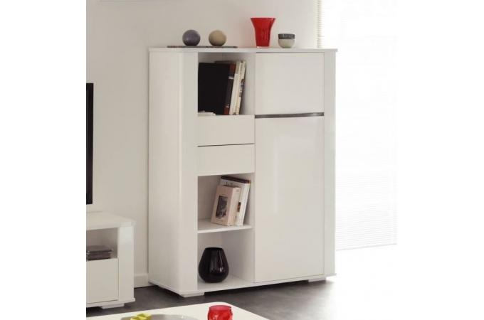 Buffet en imitation bois blanc 1 porte DIAMOND