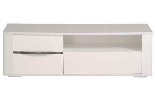 Meuble tv en imitation bois blanc diamond design sur sofactory for Imitation meuble designer