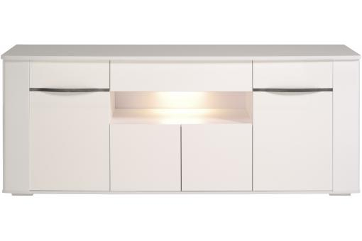 Buffet en imitation bois blanc 4 portes DIAMOND