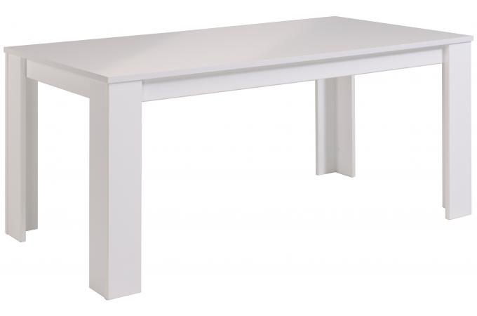 Table manger en imitation bois blanche saphir design en for Table a manger blanche