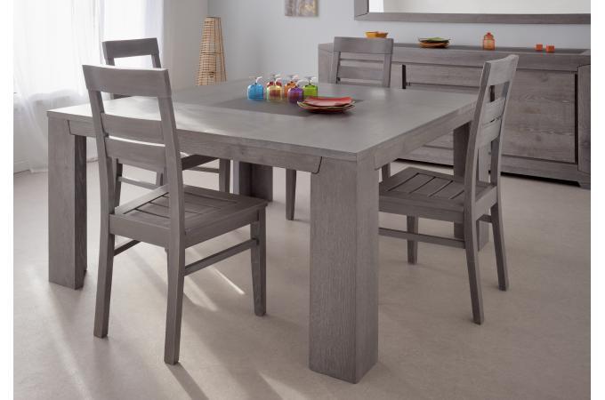 table repas carr e plaqu bois sidney design sur sofactory. Black Bedroom Furniture Sets. Home Design Ideas