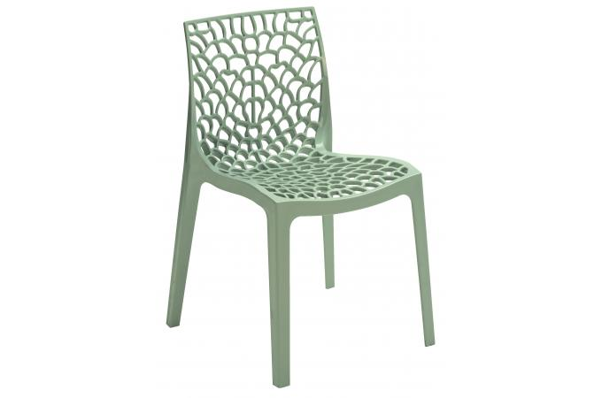 chaise design grise brillant opaque filet design pas cher. Black Bedroom Furniture Sets. Home Design Ideas