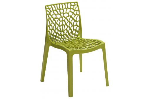 chaise design verte anis opaque filet design sur sofactory. Black Bedroom Furniture Sets. Home Design Ideas