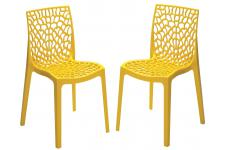 Sofactory - FILET - Chaise jaune