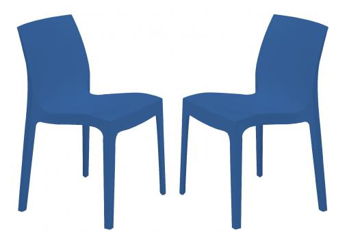 Lot de 2 Chaises Design Bleues ILE SoFactory