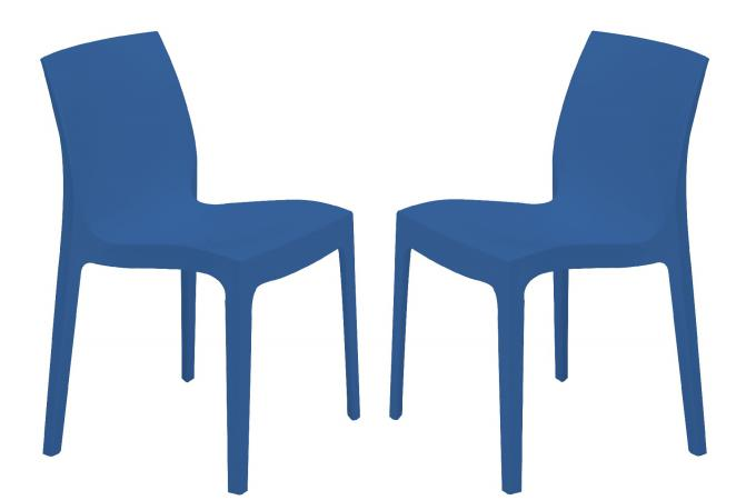Lot de 2 Chaises Design Bleues ILE