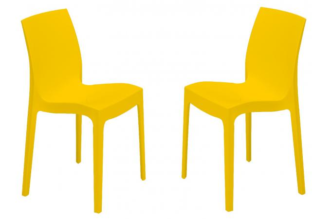 Lot de 2 Chaises Design Jaunes ILE SoFactory