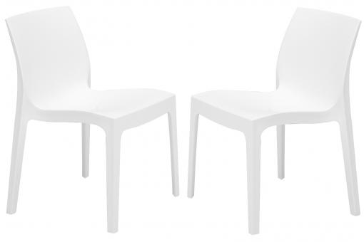 Lot de 2 Chaises Design Blanches ILE