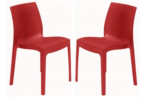 Lot de 2 Chaises Design Rouges ILE