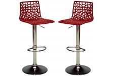 Lot de 2 Chaises de Bar Ajustables SMART