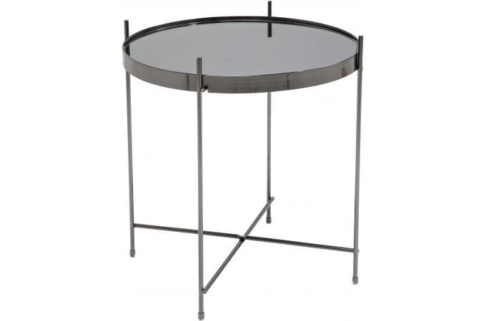 table d 39 appoint noir en m tal hedwige design sur sofactory. Black Bedroom Furniture Sets. Home Design Ideas