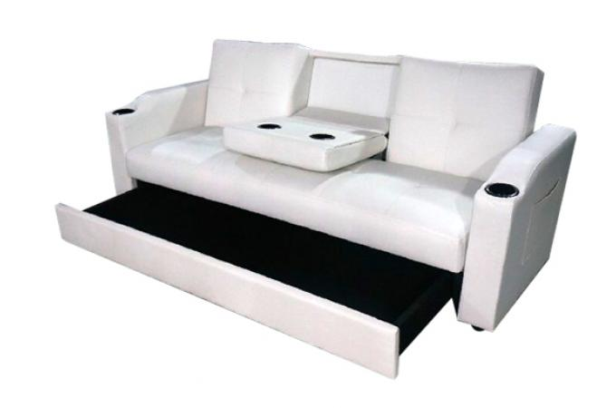 canap convertible blanc 3 naples design sur sofactory. Black Bedroom Furniture Sets. Home Design Ideas