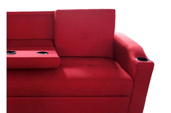 Canap convertible rouge 3 naples design en direct de l 39 usine sur sofactory - Avis canape convertible ...