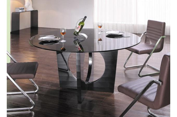 table manger ronde en verre usi design sur sofactory. Black Bedroom Furniture Sets. Home Design Ideas