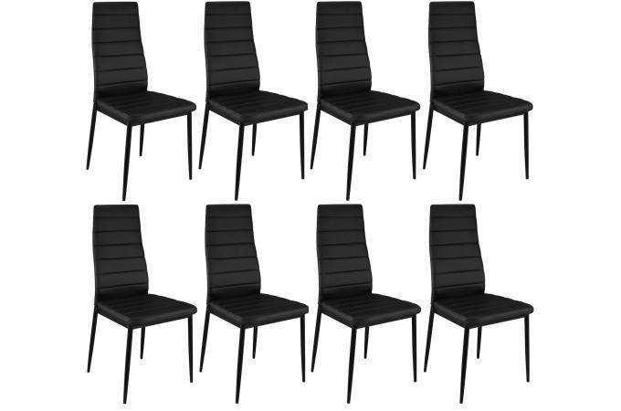 lot de 8 chaises noires en métal kronos design sur sofactory