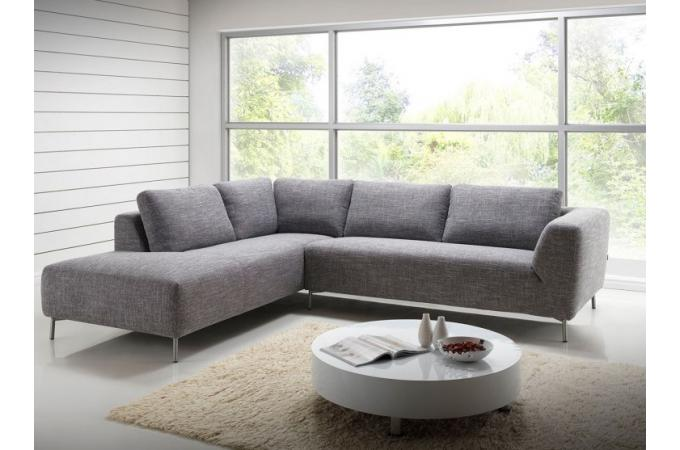 canap d 39 angle gauche en tissu gris banner design sur sofactory. Black Bedroom Furniture Sets. Home Design Ideas