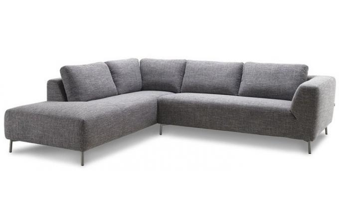 canap d 39 angle gauche en tissu gris banner design en. Black Bedroom Furniture Sets. Home Design Ideas