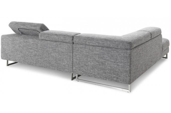 canap d 39 angle gauche gris chin en tissu zion design sur sofactory. Black Bedroom Furniture Sets. Home Design Ideas
