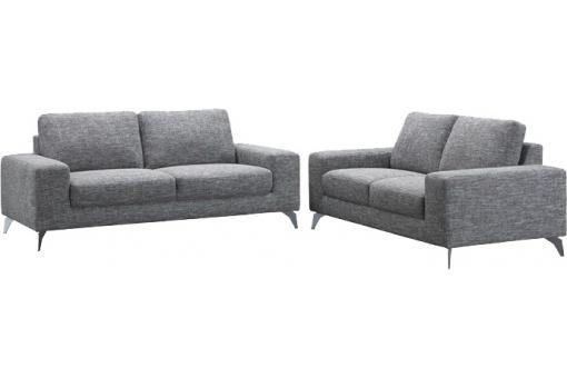 canap 3 places gris en tissu melanie design pas cher sur. Black Bedroom Furniture Sets. Home Design Ideas