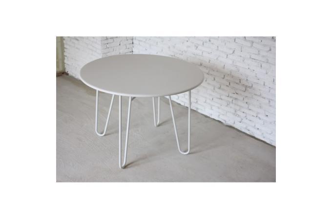 Table Ronde Blanche En Métal Berenice Design Sur Sofactory