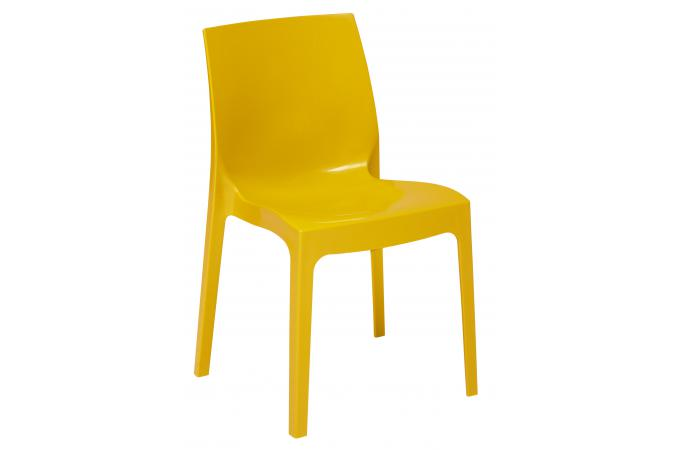 Chaise Empilable Jaune VIENNE