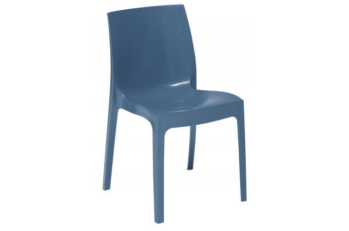 chaise empilable bleue vienne design sur sofactory. Black Bedroom Furniture Sets. Home Design Ideas