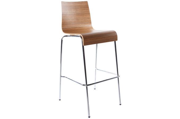tabouret de bar marron en m tal stinson design sur sofactory. Black Bedroom Furniture Sets. Home Design Ideas