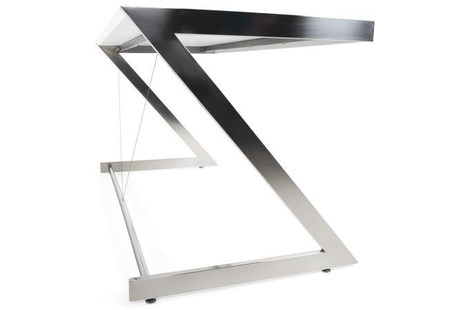 Table de bureau blanc en métal nadia design sur sofactory