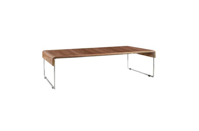 Table basse marron en m tal lorena design en direct de l - Table basse marron ...