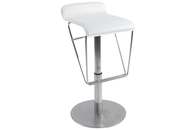 tabouret de bar blanc en acier college design pas cher sur sofactory. Black Bedroom Furniture Sets. Home Design Ideas