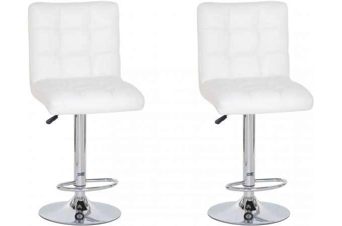 Lot de 2 Tabourets de bar COCO blanc
