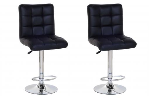 Lot de 2 Tabourets de bar COCO noir