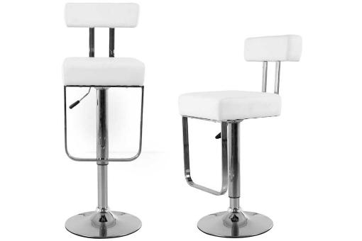 Lot de 2 Tabourets de bar SCALE blancs