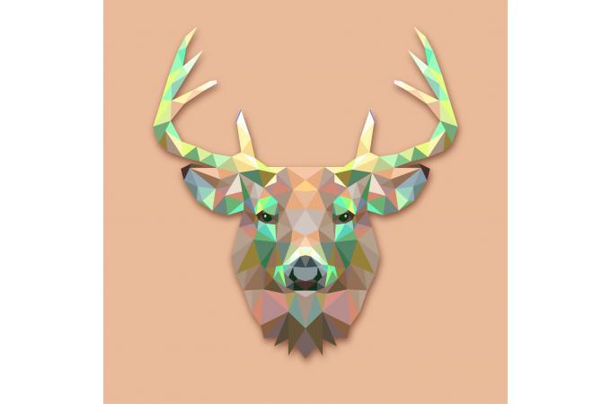 Tableau Animaux Cerf Marron 50x50 Josephine Déco Design Sur Sofactory
