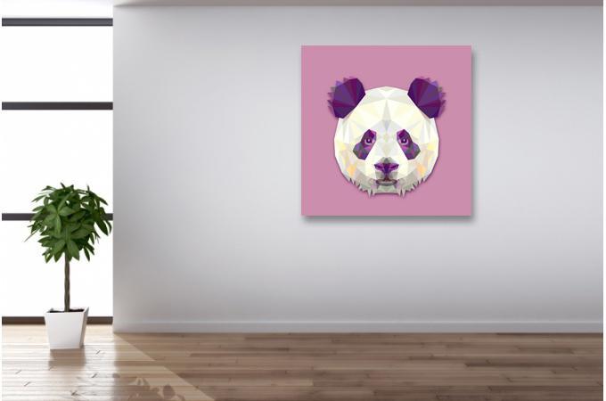 Tableau animaux panda 50x50 cheick oumar d co design sur for Tableau deco chambre adulte