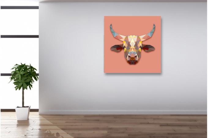 Tableau Animaux Vache 60x60 Ilian Déco Design Sur Sofactory