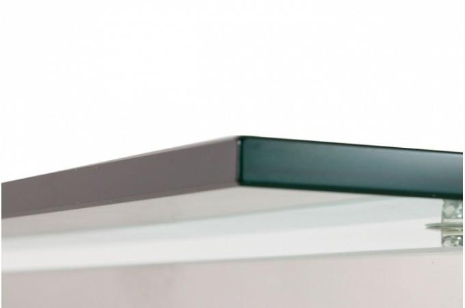 Bureau en verre et acier design king design sur sofactory - Bureau verre et acier ...