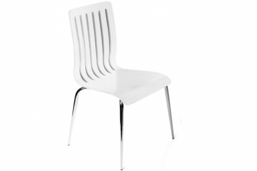 Chaise design en Bois Blanc RICHARD
