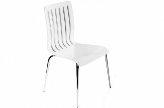 chaise design en bois blanc richard design sur sofactory. Black Bedroom Furniture Sets. Home Design Ideas
