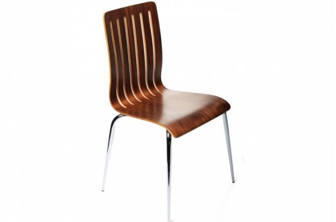 chaise design en bois marron richard design sur sofactory. Black Bedroom Furniture Sets. Home Design Ideas