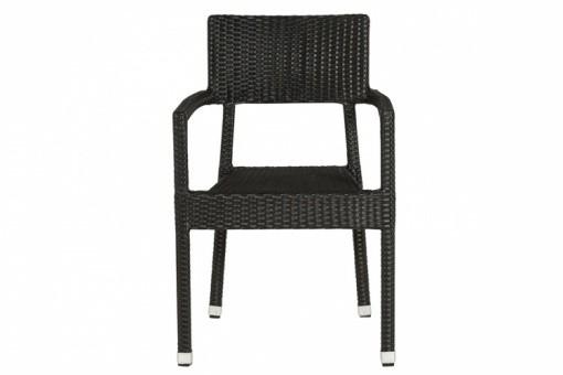 Chaise noire en osier orian design pas cher sur sofactory for Chaise osier tresse